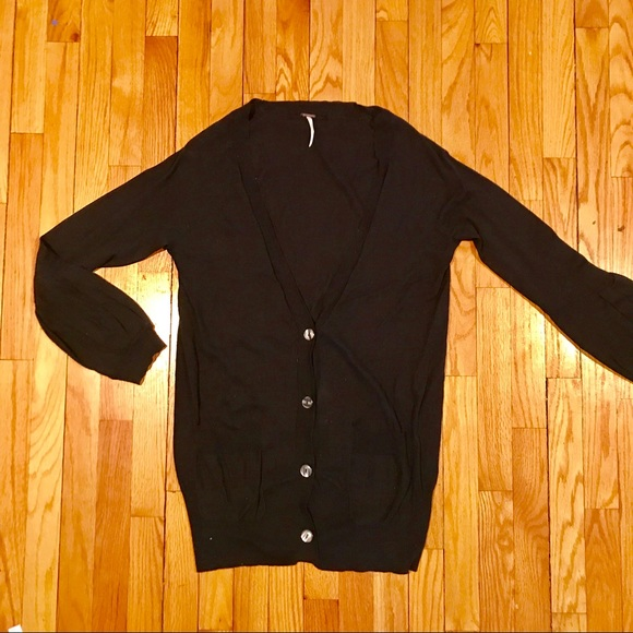 50fc5d50b1e Free People Sweaters - Free People Cardigan with Puff Sleeves